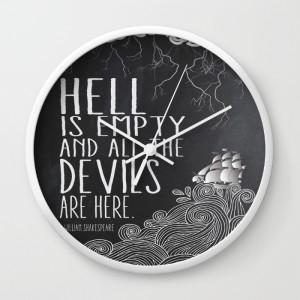 hell-is-empty-kar-wall-clocks
